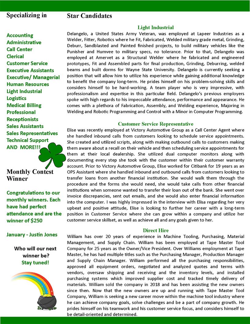 March 2020 GreatStaff Newsletter, Page 2