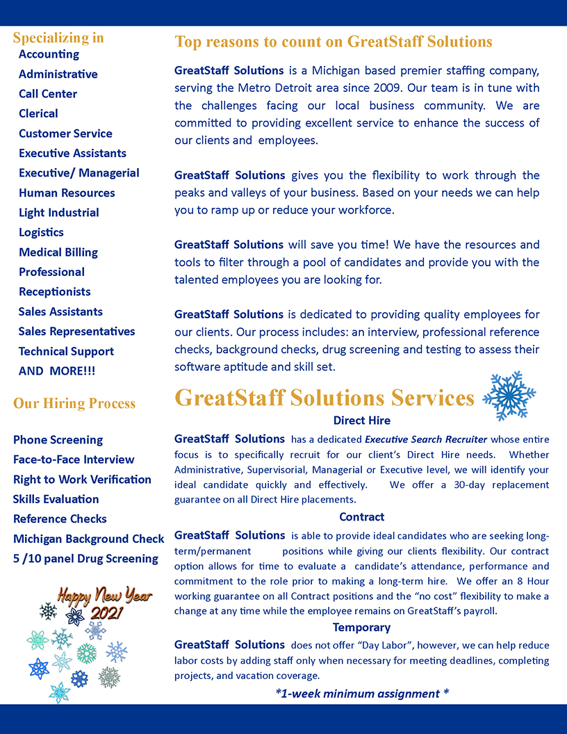 January 2020 GreatStaff Newsletter, Page 2