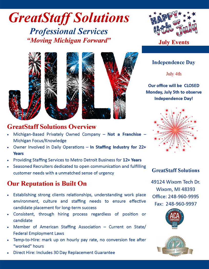 July Newsletter 2020, Page 1